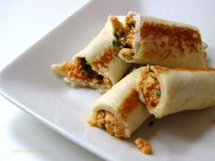 Bread paneer rolls, how to make bread paneer rolls recipe, an easy Indian snack using bread with a paneer filling that's toasted. Step by step recipe.