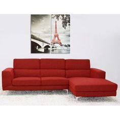 The Collection German Furniture Bicado Sectional Finish: Red