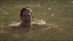 James Norton swimming in Grantchester