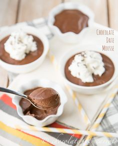 Chocolate Date Mousse | chocolateandcarrots.com
