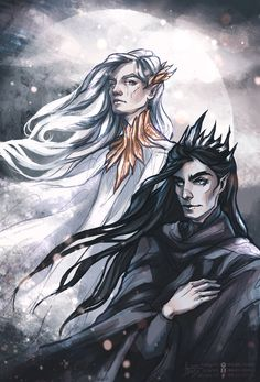 Манвэ и Мелькор Valar by frauen-adams