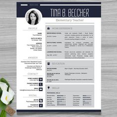 Resume Templates For Teachers Elementary Teacher Resume Cv Templates Teaching Resume Cover .