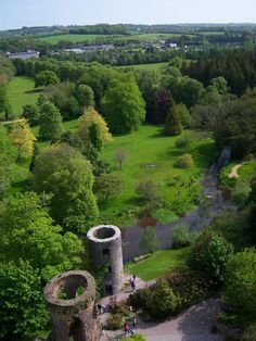 View from atop Blarney Castle, Ireland