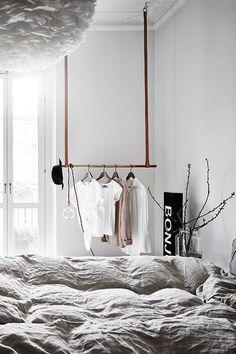 via Coco Lapine Design blog Grey Bedroom Design, Bedroom Green, Home Bedroom, Bedroom Decor, Bedroom Designs, Ikea Bedroom, Bedroom Furniture, Bedroom Ideas, Bedroom Rustic