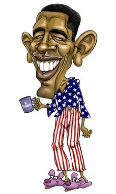 Caricature of Barrack Obama