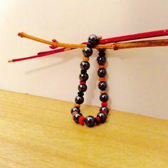 hematite wood bracelet gift ideablack with by JeriAielloartstore