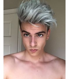 """""""#HairMenStyle #Silver OR