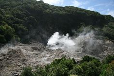 Active volcano in St. Lucia--La Soufriere drive-in volcano. That's right drive right in!