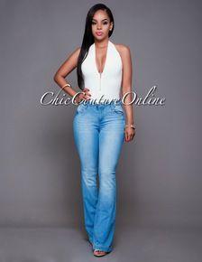 Celebrity Light Blue Wash Bootcut Denim Jeans