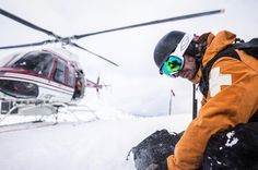 _cammcleod_ professionals trust Helly Hansen.  Ski patrol.  Saving people. Helicopter, tough.