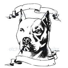 Pitbull Head Drawings images