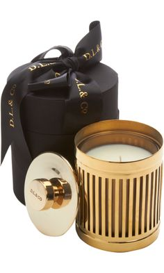 Golden Amber Candle from D.L & Co.