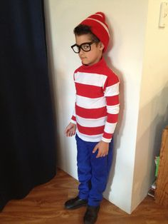 Where's Wally costume I sewed for my son's book character dress-up day for school during 'Book Week'
