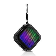 waterproof outdoor bluetooth speaker grde portable bluetooth 40 speaker app remote control colorful led lights support tf fm hands free