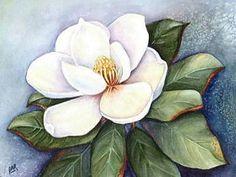 Magnolia Blossom IV Painting by Artist Barbara Ann Robertson