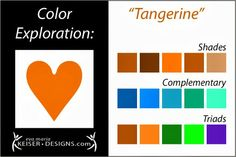 Eva Maria Keiser Designs: Explore Color:  Tangerine