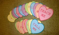 LDS Primary Chorister Ideas: Love Is In The Air! Printable Conversation Hearts as well as blank ones