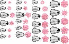 tableau d'embout à douille pour fleurs appliquées tips-wi