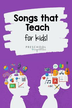 Music is an amazing teaching tool! All these songs are teacher-approved for their learning aspect! Find math songs, alphabet songs, literacy songs, all about me songs, and more! Circle Time Songs, Circle Time Activities, Kids Learning Activities, Infant Activities, Music Activities, Kids Nursery Rhymes, Rhymes For Kids, Songs For Toddlers, Kids Songs