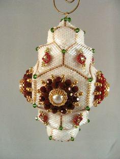 pattern tutorial beaded christmas ornament beads info