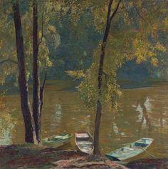 """Bayou,"" 1935, Daniel Garber (1880 - 1958)"