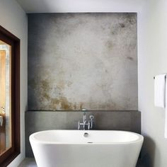 Check Out 41 Concrete Bathroom Design Ideas To Inspire You. Concrete is a super popular material due to its durability, modern look and budget-friendliness. Bad Inspiration, Bathroom Inspiration, Concrete Bathroom, Concrete Walls, Plaster Walls, Concrete Shower, Shiplap Bathroom, Bathroom Renos, Tadelakt