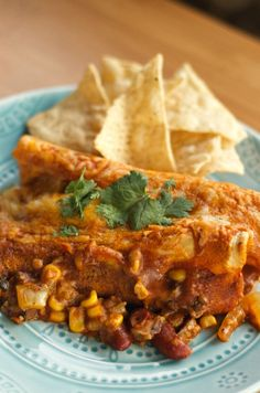 Vegetarian Enchiladas | Reluctant Entertainer.com