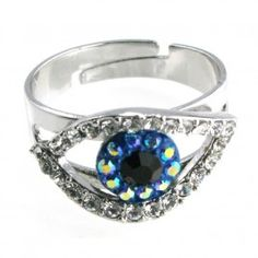 Butler and Wilson Small Crystal Eye Ring £18.00 #jewellery #jewelry #evileye #talisman