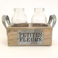 Petites Fleurs Basket Bottles) – Grey from Tie the Knot Boutique - (Save