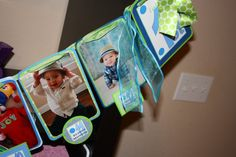 I love this idea, a photo banner showing my baby boy from birth til 1 years old.