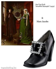 Painting by Jan Van Eyck, shoes by Marc Jacobs