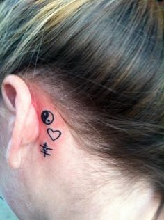 My behind the ear tattoo