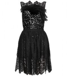 Lace Dress with Skirt Overlay - Lyst