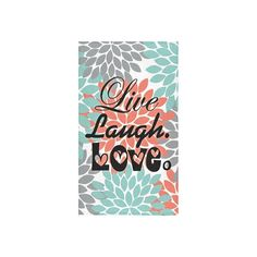 "Custom Live Laugh Love Pattern Bath Towels Home&Bathroom Shower Towel Bath Wrap Washcloth Beach Towel 30""X56"" (One Side) -- Awesome products selected by Anna Churchill"