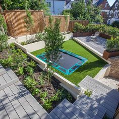 Ladywell, London - The Millboard Company Limited Sunken Trampoline, Garden Studio, Warm Grey, Simple Colors, East London, Home Projects, Terrace, Entrance, Lawn