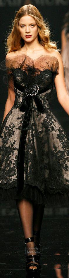 Zuhair Murad ~ Elegant Cocktail Dress, Black