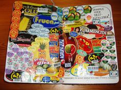 Wreck This Journal: Collect Fruit Stickers Here., via Flickr.