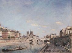 Johan Barthold Jongkind : La Seine et Notre-Dame de Paris (1864) - Musée d'Orsay, #Paris, France