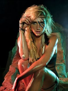 Kesha (rapper, and singer). Saw this animal in concert tonight and she is undeniably and beautifully real :) and supports marriage equality