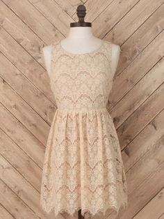 color: nude | Lace Study Dress from altar'd state