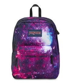 The new JanSport galaxy print High Stakes backpack for Fall 2015 want one soooooo badly 😭😭 Mochila Jansport, Sac Jansport, Rucksack Bag, Backpack Purse, Duffle Bags, Messenger Bags, Diaper Backpack, Cute Backpacks, School Backpacks