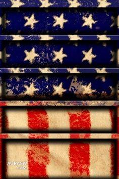 American flag shelf
