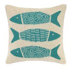 Kate Nelligan Pattern Fish Cotton Throw Pillow