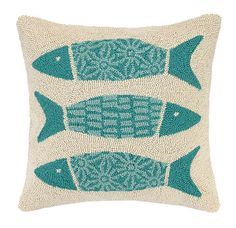 Kate Nelligan Pattern Fish Cotton Throw Pillow