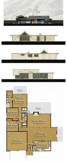 Eichler-house-plan-470-2, Eichler Floor Plan, Eichler Homes, Eichler For Sale A huge but interesting home.