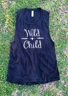 Wild Child Womens Black Muscle Tank