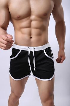 2155a35521 Short Men Bodybuilding 2017 Summer Casual Shorts Color Patchwork Pocke –  ivroe