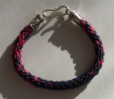 Blue and Red Braided Friendship Bracelet by LotusJewels on Etsy, $16.50