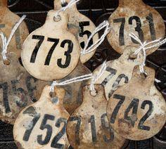 Metal Number Tags