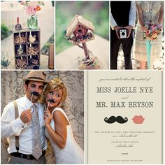 Love Wed Bliss Inspiration Board: Whimsical Wedding Stationery #vintage #wedding